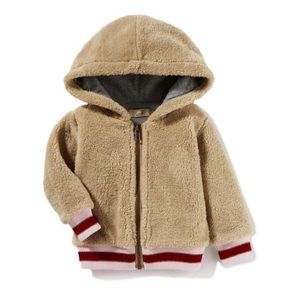 Peek Infant Hooded Fleece Bomber Jacket